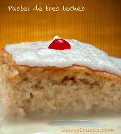Pastel de tres leches http://picucas.com/como-hacer-un-pastel-de-tres-leches/