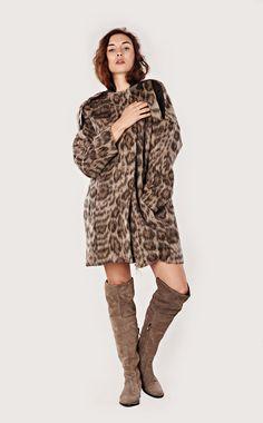 Alpaca wool coat, woolen coat, panther coat, long coat by MONAO