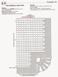Roberta Crochet e Co. Crochet Bedspread Pattern, Crochet Borders, Crochet Stitches Patterns, Filet Crochet, Crochet Designs, Crochet Doilies, Crochet Flowers, Crochet Accessories Free Pattern, Diy Crafts Materials