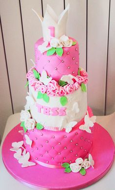 this princess cake is a great princess birthday cake for a princess party