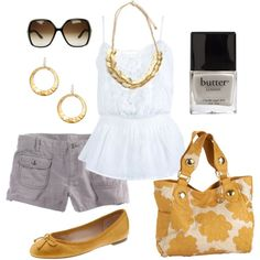 Great summer outfit, except I would replace the sunglasses with a pair of Wayfarers instead.