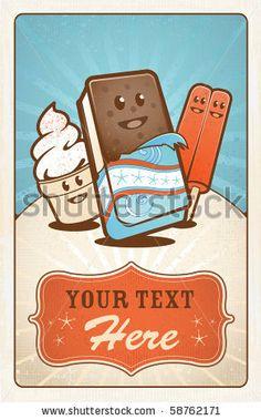 stock vector : Ice Cream Treats Poster