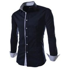 Wholesale Fashion Lapel Slim Fit Special Ruffles Long Sleeve Polyester Men's Casual Shirt Only $6.10 Drop Shipping | TrendsGal.com