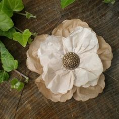 How to: Coffee Filter Flower - This looks so easy and is so pretty! Would look great in the corner of a picture frame!