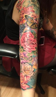 Mallory Swinchock - Floral Sleeve (partially healing)