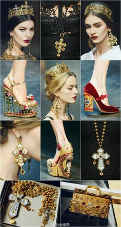 Found more pics on the D Byzantine style in a blog in Chinese. See the shoes?!!!