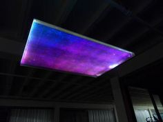 Northern Lights Suspension - Dichroic Eco Resin and fiber optics meet to create an etheral lighting suspension for the FineSilver Art gallery Complex. #LightlinkLighting #Houzz #AustinUrbanHome #HDMag #SAMag