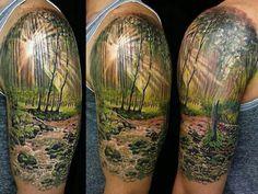 Neue Tattoos, Dad Tattoos, Sweet Tattoos, Body Art Tattoos, Girl Tattoos, Forrest Tattoo, Wilderness Tattoo, Wood Tattoo, Inspiration Tattoos