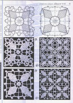 Tejer Crochet - Gráficos: Square