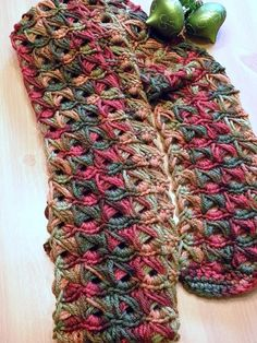 Broomstick crochet scarf made by Tracy Delegal