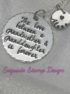 Grandmother Gift  Grandma Jewelry  The by ExquisiteStampDesign