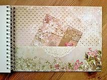 Papiernictvo - romantický svadobný album A5 - 5880940_