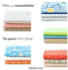 Manualidades con tela - Fat Quarter Dailylike Disponibles en www.fdefifi.com