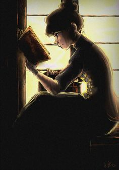 LIESEL: I imagine liesel reading one of the books that she stole from Illsa's Library and reading it in the basement.