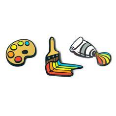 'Rainbow Art' Pins