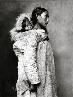 India de Norte América con niño