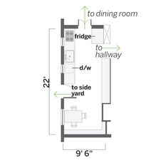 what to do w/ a long, narrow kitchen