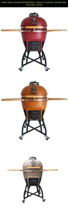 Vision Grills Kamado Professional Ceramic Charcoal Smoker Grill with Grill Cover #camera #grills #gadgets #kit #shopping #products #racing #drone #technology #vision #kamado #fpv #parts #tech #plans