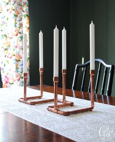 The Gathered Home: DIY Copper Pipe Candelabra