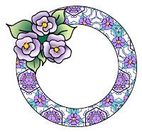 Round patterned frames with three roses. Round Border, Three Roses, Scrapbook Frames, Borders And Frames, Paper Crafts, Clip Art, Fancy, Wreaths, Floral