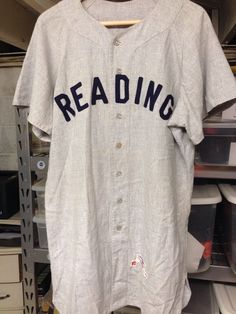 Vintage 1960 Game Used Reading Indians   Phillies Flannel Baseball Jersey   22 Sport T Shirt c16722b54