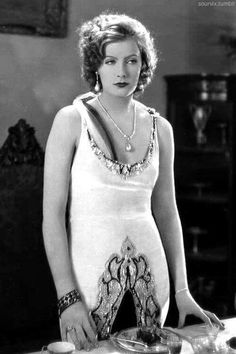 Greta Garbo, a great and beautiful actress, love her gown.
