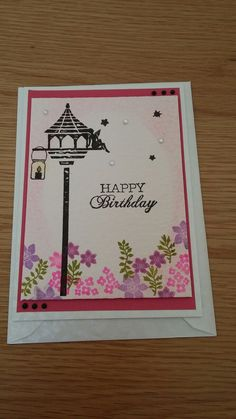 Ladies card-io fairy stamped birthday card