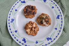 Fursecuri cu ovaz si banane – cookies fara zahar Energy Bars, Raw Vegan, Granola, Sugar Free, Waffles, Biscuits, Deserts, Muffin, Yummy Food