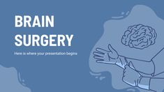 Give information about brain surgery and related medical procedures with this abstract presentation. Available as Google Slides theme and PowerPoint template Informa, Microsoft Powerpoint, Surgery, Brain, Presentation, Templates, Education, Memes, Free Stencils