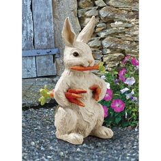 Awesome Carrot Bandit Bunny Rabbit Statue . Home Yard U0026 Garden Decor Products U0026  Gifts. Easter