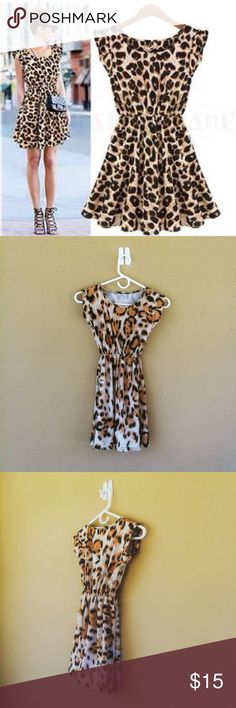 New women's leopard print summer party dress BUY ONE GET ONE FREE!!This dress is in new condition never been worn all dresses are still in the original packaging..OFFERS ARE ACCEPTED! Dresses Mini