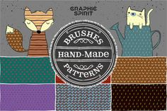 Hand Made Brushes & Patterns by GraphicSpirit on @creativemarket
