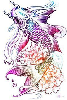 koi fish tattoo girl - Pesquisa do Google: