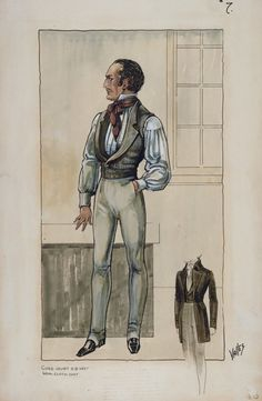 Arlington J. Valles - Costume Sketch for the Metro-Goldwyn-Mayer Production, 'A Tale of Two Cities', 1935.