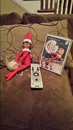 Stormy watching his favorite movie. #elfonashelf