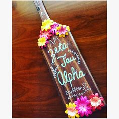 I made a paddle for my little! #sorority #paddle #zta