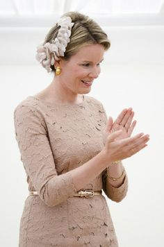 Queen Mathilde of Belgium at the award ceremony for the laureates of the Queen Elisabeth Singing Competition 2014 in Waterloo