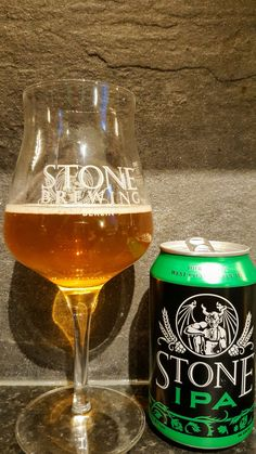 Stone IPA by Stone Brewing Company. Watch the video beer review here www.youtube.com/realaleguide   #CraftBeer #RealAle #Ale #Beer #BeerPorn #StoneIPA #StoneBrewingCompany #StoneBrewing #Stone