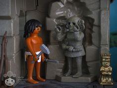 Handcraft aztec man working on a sculpture of Coatlicue