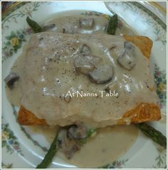 Chicken friand aka chicken in puff pastry with mushroom sauce.  One of my favorite La Madeleine dishes, can't wait to try this at home.