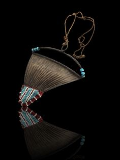 Africa | Woman's cache-sexe from the Kirdi people of Cameroon | Iron, glass beads and leather