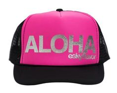 ESKY FLAVOR HAT - ALOHA BLACK PINK 48bb11e40e4