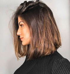 Brunette highlights hairstyles kapsels ideeen korthaar langhaar haaropsteken updo brunette blond ideas curls krullen Source by Middle Length Hair, Middle Hair, Long Bob Haircuts, Lob Haircut Straight, Haircut Bob, Long Bob Hairstyles, Haircut Short, Best Haircuts, Haircuts For Medium Length Hair Straight