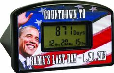 Big Mouth Toys Countdown Clock  Timer - Obamas Last Day 1-20-2013