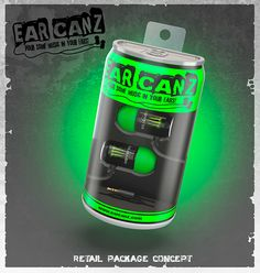 Earcanz-can shaped earbuds on Behance