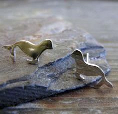 Sea Lion Stud Earrings