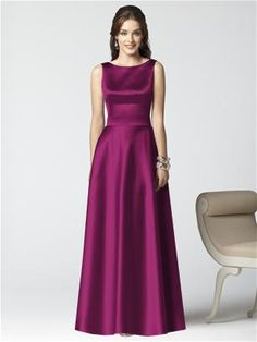 Dessy Collection Style 2853  Front View in Merlot
