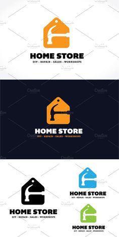 Home Store Logo Templates Logo Description:*** Mockup not included. Only for illustration purposeThe logo is Easy to edit by Super Pig Shop Construction Business, Construction Logo, Business Brochure, Business Card Logo, Handyman Logo, Construction Birthday Parties, Retro Logos, Home Logo, Logo Design Inspiration