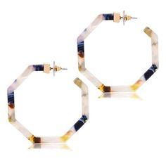 2eb69aa5f76 Cukeyouz Bohemian Resin Polygon Earring For Women Girls Statement Acrylic  Hoop Earrings Drop Dangle Earrings Cukeyouz