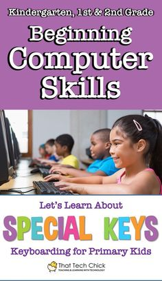 If you struggle to teach basic computer skills to younger kids, you are not alone! Teaching Computer Skills, Elementary Computer Lab, Computer Literacy, Kids Computer, Teaching Computers, Computer Lessons, Computer Basics, Computer Class, Technology Lessons